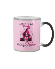 In October I Wear Pink For My Nana Gnome Breast  Color Changing Mug thumbnail