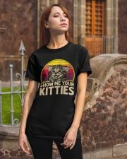 Vintage Show Me Your Kitties Shirt Classic T-Shirt apparel-classic-tshirt-lifestyle-06