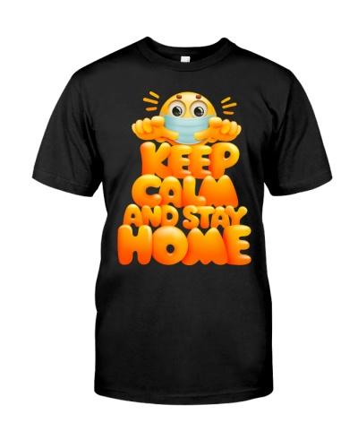 Face Emoji Hygiene - Keep Calm And Stay Home