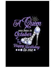 A Queen Was Born In October Happy Birthday to Me  11x17 Poster thumbnail