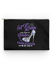 A Queen Was Born In October Happy Birthday to Me  Accessory Pouch - Standard front