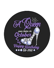 A Queen Was Born In October Happy Birthday to Me  Circle Coaster thumbnail
