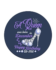 A Queen Was Born In December  Happy Birthday  Circle Coaster thumbnail