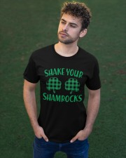 Shake Your Shamrock St Patrick's Day -Unisex Shirt Classic T-Shirt apparel-classic-tshirt-lifestyle-front-43