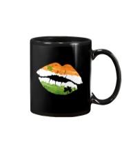 Funny St Patrick's Day Irish Flag Shamrock Lips Mug tile