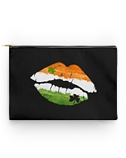 Funny St Patrick's Day Irish Flag Shamrock Lips Accessory Pouch - Standard front