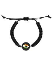 Funny St Patrick's Day Irish Flag Shamrock Lips Cord Circle Bracelet tile