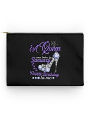 A Queen Was Born In January  Happy Birthday to Me  Accessory Pouch - Standard back