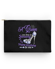 A Queen Was Born In January  Happy Birthday to Me  Accessory Pouch - Standard front