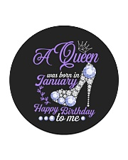 A Queen Was Born In January  Happy Birthday to Me  Circle Coaster thumbnail