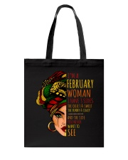 I'm A February  Woman I Have 3 Sides Birthday Gift Tote Bag thumbnail