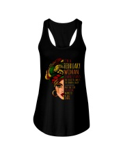 I'm A February  Woman I Have 3 Sides Birthday Gift Ladies Flowy Tank thumbnail