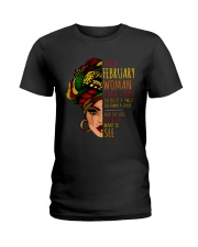 I'm A February  Woman I Have 3 Sides Birthday Gift Ladies T-Shirt thumbnail