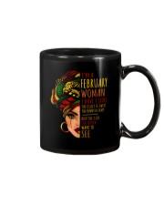 I'm A February  Woman I Have 3 Sides Birthday Gift Mug thumbnail