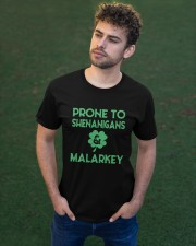 Vintage Prone To Shenanigans And Malarkey  Classic T-Shirt apparel-classic-tshirt-lifestyle-front-43
