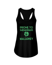 Vintage Prone To Shenanigans And Malarkey  Ladies Flowy Tank thumbnail
