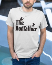The Rodfather Funny Parody Fishing Classic T-Shirt apparel-classic-tshirt-lifestyle-front-45