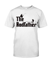The Rodfather Funny Parody Fishing Classic T-Shirt front