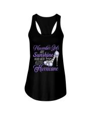November Girls Are Sunshine Mixed With Hurricane Ladies Flowy Tank thumbnail
