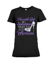 November Girls Are Sunshine Mixed With Hurricane Premium Fit Ladies Tee thumbnail
