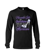 November Girls Are Sunshine Mixed With Hurricane Long Sleeve Tee thumbnail