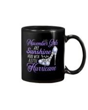 November Girls Are Sunshine Mixed With Hurricane Mug thumbnail