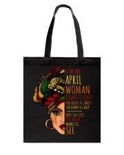 I'm A December  Woman I Have 3 Sides Birthday Gift Tote Bag thumbnail