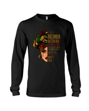 I'm A December  Woman I Have 3 Sides Birthday Gift Long Sleeve Tee thumbnail