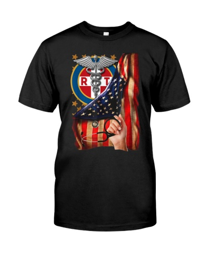 Respiratory Therapist American Flag Pride Hand RT