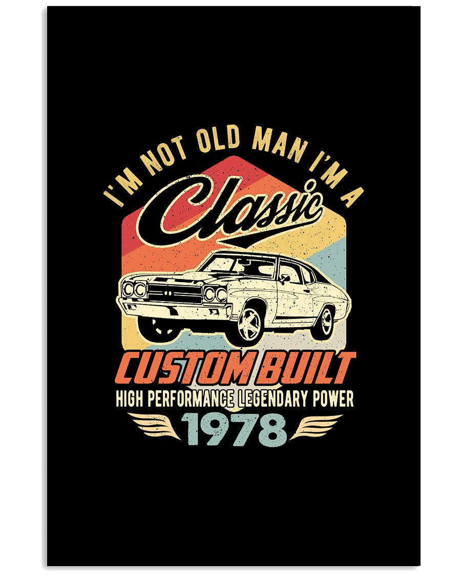 Classic Car - 42 Years Old Matching Birthday Tee  11x17 Poster