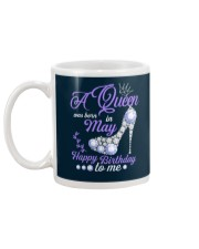 A Queen Was Born In May Happy Birthday to Me  Mug back