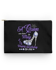 A Queen Was Born In May Happy Birthday to Me  Accessory Pouch - Standard thumbnail