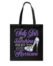 July Girls Are Sunshine Mixed With Hurricane Tote Bag thumbnail