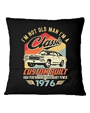 Classic Car - 44 Years Old Matching Birthday Tee  Square Pillowcase back