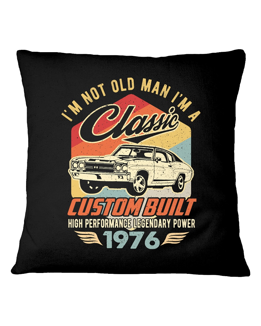 Classic Car - 44 Years Old Matching Birthday Tee  Square Pillowcase