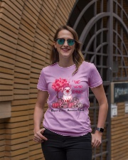 We Wear Pink Breast Cancer Awareness Pig Lovers  Ladies T-Shirt lifestyle-women-crewneck-front-2