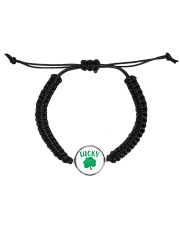 Lucky Shamrock - St Patrick's Day Accessories Cord Circle Bracelet front