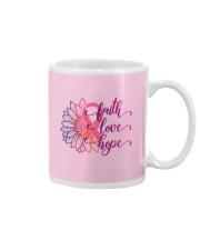Faith Hope Love Daisy Flower Breast Cancer Mug thumbnail
