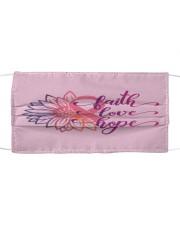 Faith Hope Love Daisy Flower Breast Cancer Cloth face mask thumbnail