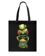 Frog Leprechaun Pot Of Gold Shamrock St Patrick's Tote Bag back