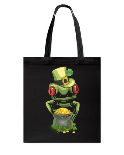Frog Leprechaun Pot Of Gold Shamrock St Patrick's