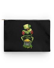 Frog Leprechaun Pot Of Gold Shamrock St Patrick's Accessory Pouch - Standard thumbnail