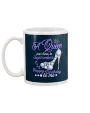 A Queen Was Born In September Happy Birthday to Me Mug back
