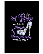 A Queen Was Born In March Happy Birthday to Me  11x17 Poster thumbnail