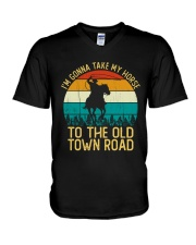 I Am Gonna Take My Horse To The Old Town Road  V-Neck T-Shirt thumbnail