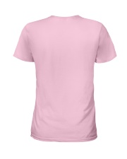 Breast Cancer Awareness October Pink Plaid Truck  Ladies T-Shirt back