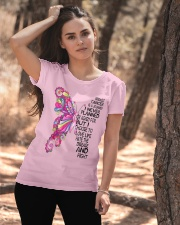 Breast Cancer Is A Journey I Never Planned  Ladies T-Shirt apparel-ladies-t-shirt-lifestyle-06