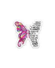 Breast Cancer Is A Journey I Never Planned  Sticker - Single (Vertical) thumbnail