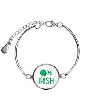 Lucky Irish Green Shamrock St Patrick's Day  Metallic Circle Bracelet thumbnail