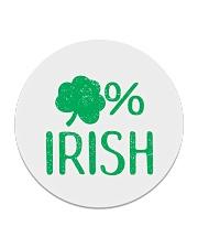 Lucky Irish Green Shamrock St Patrick's Day  Circle Coaster thumbnail